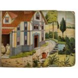 Children's panoramic toy book.- Stranders (Walter) The House That Jack Built, Dean & Son, 1887.