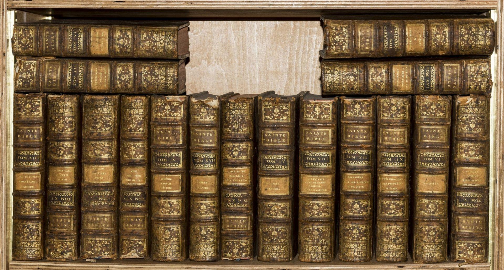 Bible, Latin & French. Sainte Bible en Latin et en Francois, Second Edition, 17 vol., Paris, … - Image 2 of 2