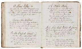 Poetry.- [Volume of poetry], manuscript, original half calf, [c. 1820].