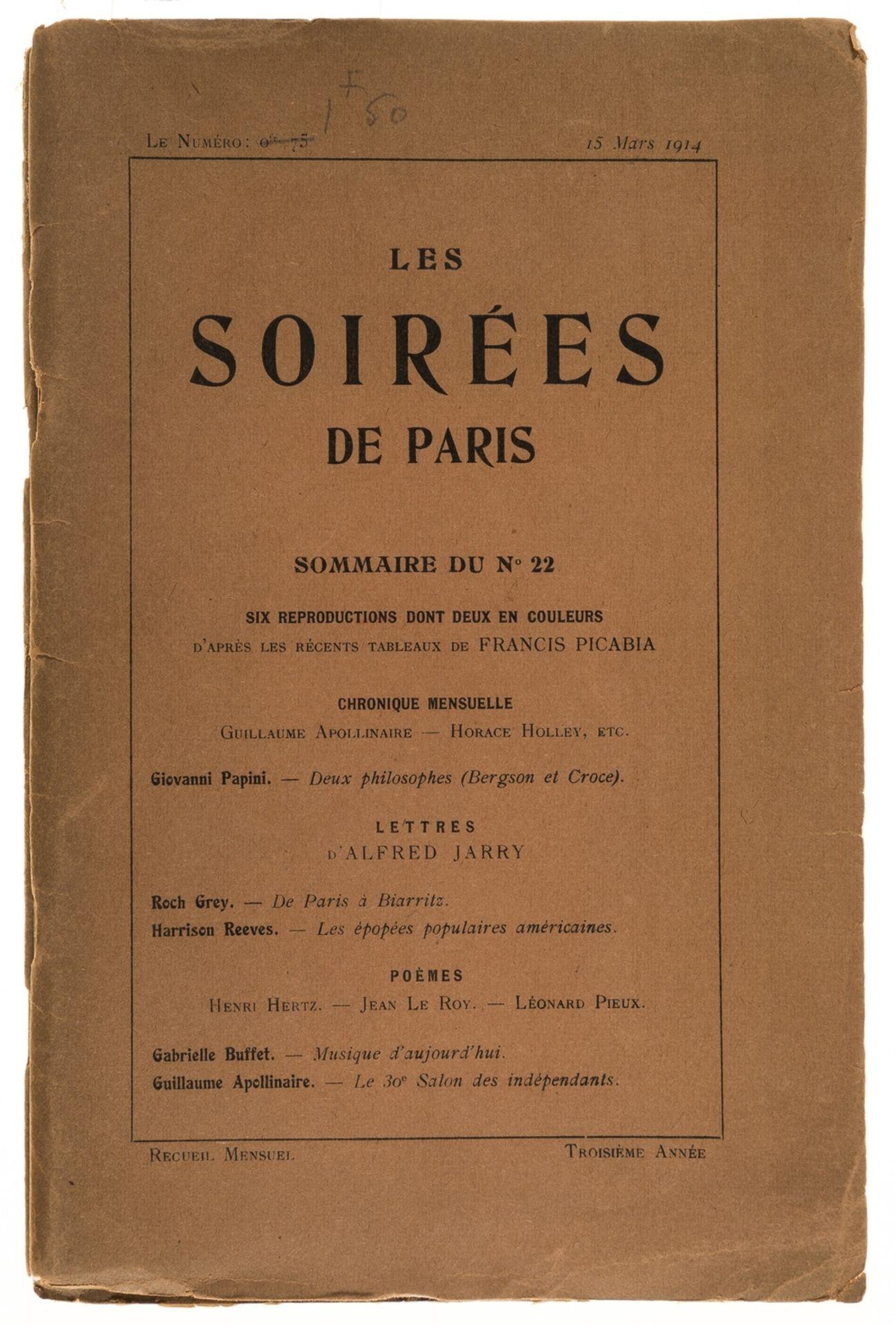 Apollinaire & Jarry.- Les Soirées de Paris, Paris, 1914.