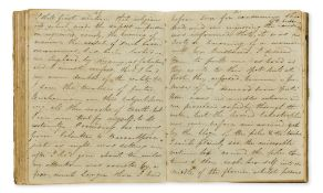 India.- Journal of a Voyage to India..., manuscript, original green vellum, lettered direct on …