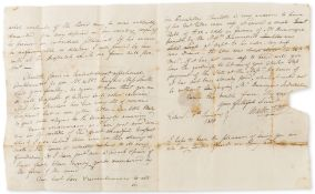 Scott (Sir Walter) Autograph Letter to Robert Smith in St Paul's Churchyard, 1800, on the recovery …