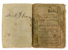 Miniature Bible.- Bible (English) The Holy Bible...Done into Verse, unrecorded edition, Printed …