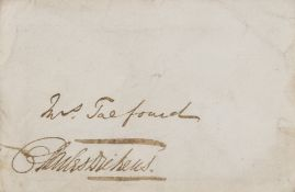 """Dickens (Charles) Autograph envelope signed """"Charles Dickens"""" addressed to Mrs Talfourd, [c. 1840]."""