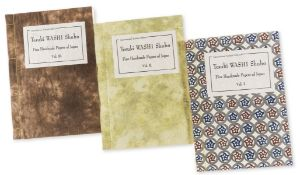 Papermaking.- Kume (Yasuo) Tesuki Washi Shuho: Fine Handmade Papers of Japan, 3 vol., samples, …