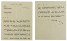 Eliot (T.S.) Typed Letter signed to Professor R.B. Onions of Bedford College, 1936, recommending …