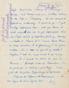 """Lawrence (D.H.) Autograph Letter initialled """"DHL"""" to Else Jaffe, his sister-in-law, [1929], on …"""