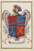 Spanish Heraldry.- Charles IV (King of Spain) Grant of arms to Don Francisco Xavier Martinez de …