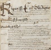 Yorkshire (West Riding), Kippax.- Court Roll of the Manor of Kippax in the Honour of Pontefract, …