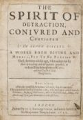 Slander.- Vaughan (Sir William) The spirit of detraction conivred and convicted in seven circles, …