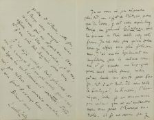 Zola (Émile) Autograph Letter signed to Ernst Ziegler in Vienna, in French, 1887, his friend and …