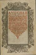 Gellius (Aulus) Noctium Atticarum, Venice, per Ioanem de Tridino, 1517.