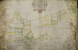 East Yorkshire Estate Map, Aldbrough.- Bowen (J., surveyor) A Description of the Mannor or Farme …