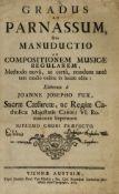 Music theory.- Fux (Johann Joseph) Gradus ad Parnassum, sive Manuductio ad Compositionem Musicae …