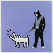Banksy (b.1974) Choose Your Weapon (Bright Purple)