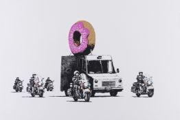 Banksy (b.1974) Donuts (Strawberry)