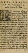 Erasmus (Desiderius) De sarcienda ecclesiae concordia deque sedandis opinionum dissidiis, Basel, …