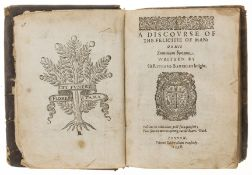 Barckley (Sir Richard) A Discourse of the felicitie of man: or his summum bonum, first edition, …