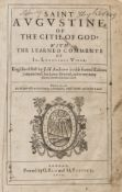 Augustine (Saint) Of the Citie of God, second edition in English, 1620.