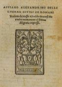 Rome's civil wars.- Appianus, Alexandrinus. Delle guerre civili de Romani, Florence, Heirs of …