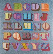 Ben Eine (b.1970) Shutter Font A-Z