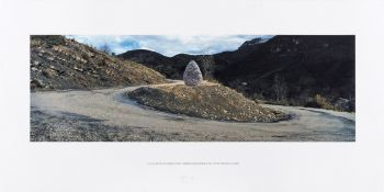 Andy Goldsworthy (b.1956) La Vallee du Vançon, Cairn, Reserve Geologique de Haute Provence