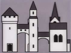 Julian Opie (b.1958) Medieval Village I