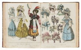 Fashion.- The Ladies' Monthly Magazine, The World of Fashion, vol. 5 only, 1828.