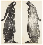 Craig (Edward Gordon) Black Figure for 'Iphigenia', woodcut on Japan paper, John Roberts Press, …