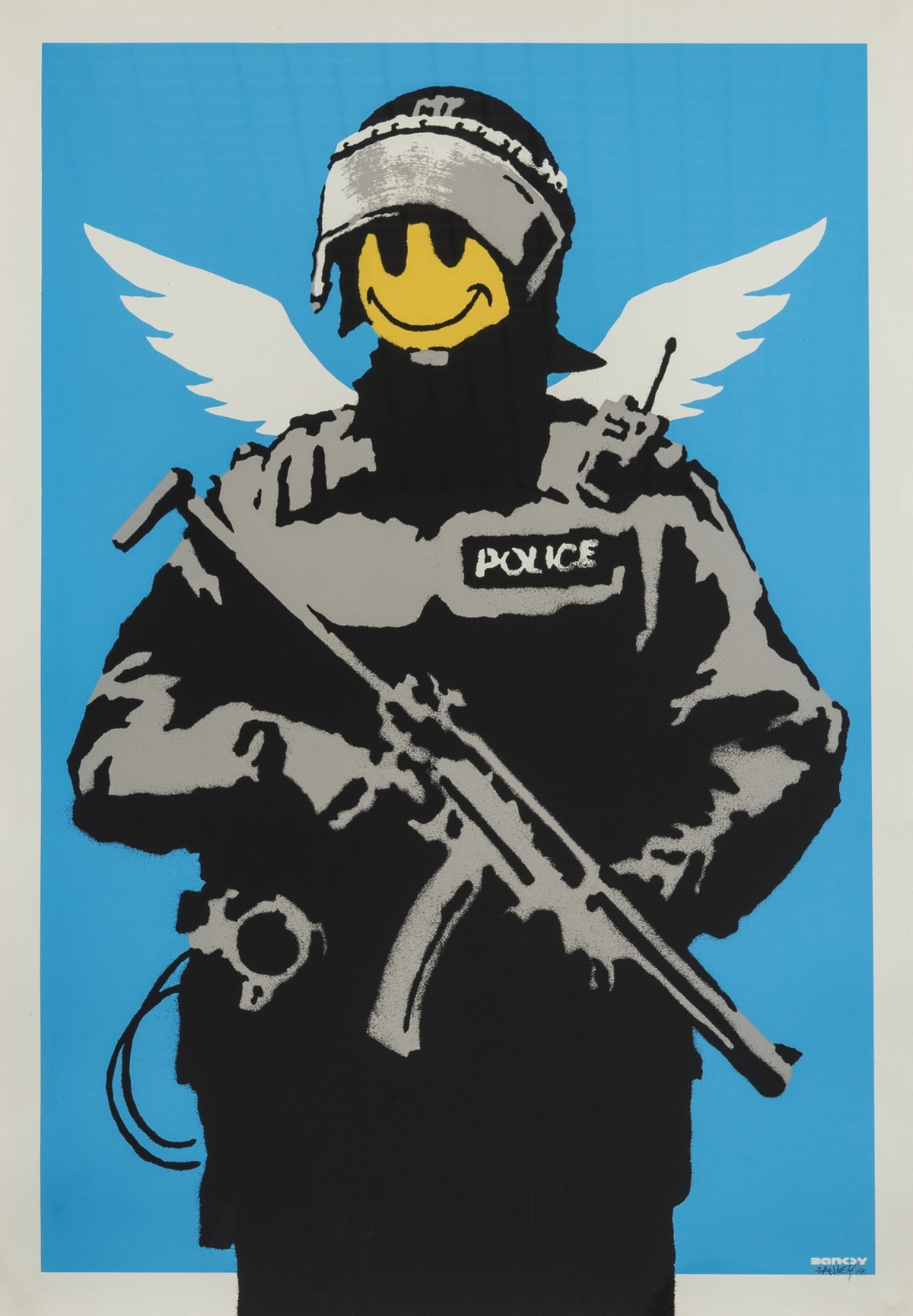 Banksy (b.1974) Flying Copper