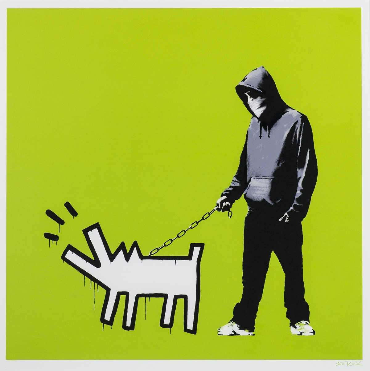 Banksy (b.1974) Choose Your Weapon (Green)