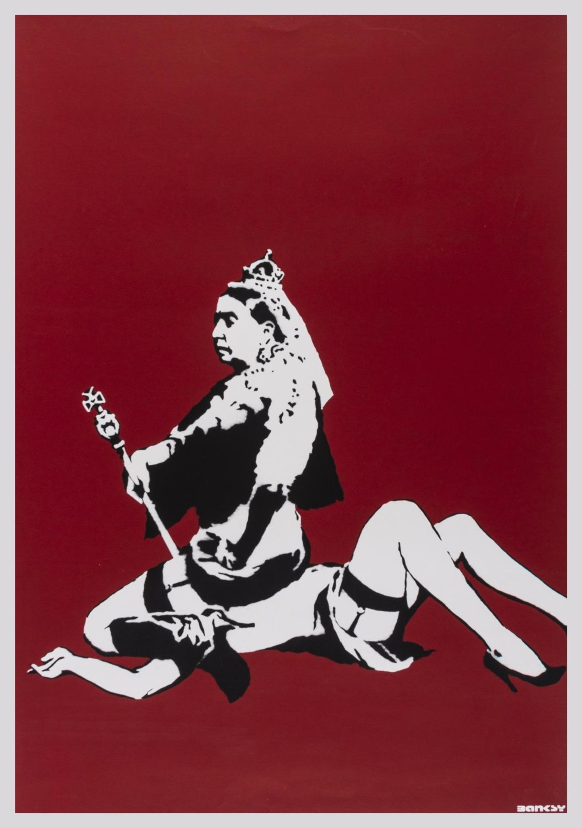 Banksy (b.1974) Queen Vic