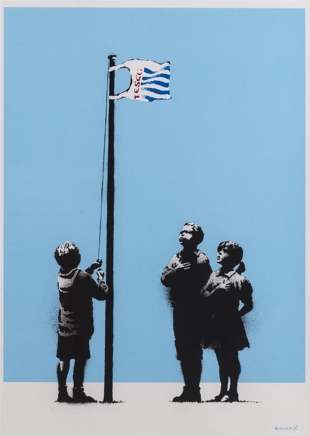 Banksy (b.1974) Very Little Helps