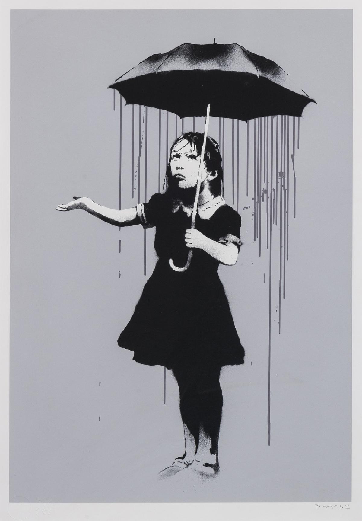 Banksy (b.1974) NOLA (Grey Rain)
