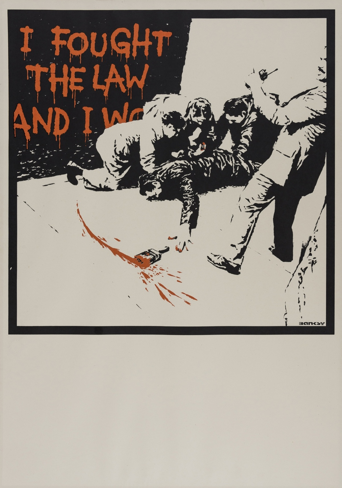 Banksy (b.1974) I Fought the Law (large sheet variant)