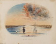 Mediterranean.- Suez Canal.- Rees (W.) Collection of 15 original studies from a voyage of the …