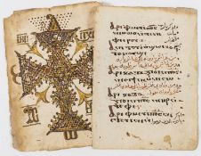 .Coptic, c. 55ff. from Coptic prayer books,manuscript uncial on paper, some decorations in pen …