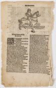 """[Chaucer (Geoffrey)] [The Reeves Tale from the The Canterbury Tales found in the """"Workes""""], here …"""