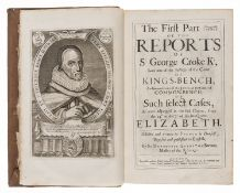 Law.- Croke (George) Reports, 3 parts in 3 vol., John Field and Thomas Newcomb [and others], …