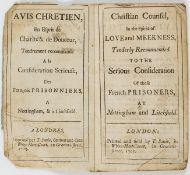 Quakerism for French prisoners.- Ashby (Richard) Christian counsel, in the spirit of love and …