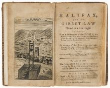 Early form of Guillotine.- [Midgley (Samuel)] Halifax, and its Gibbet-Law placed in a true Light, …