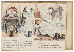 Cruikshank (George).- Mayhew (Horace) The Tooth-ache, hand-coloured etched illustrations, folding …