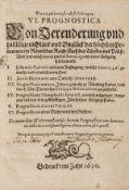 Paracelsus.- Neumeister (Heinrich) VI. Prognostica von Verenderung..., [Halle], 1620.