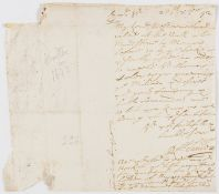 """Letters.- Sanders (Robert) Autograph Letter signed to Raleigh Birskin, """"My Lord Westmorland will …"""