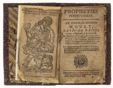 Nostradamus & Prophecy.- Moult (Thomas-Joseph) Propheties perpetuelles, tres-curieuses et …