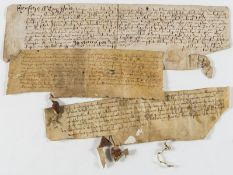 Horsley.- Obligation bond relating to Humfrey Pyrrye, manuscript on vellum, 2 sides, in English …