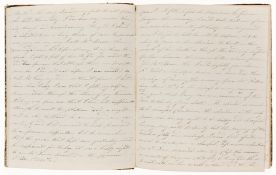 Wesleyan Methodist Commonplace Book with a few diary entries, manuscript, contemporary calf-backed …