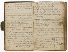 Commonplace Book & Diaries.- Whitehead (James, of Mill House, Norland, near Halifax) Commonplace …
