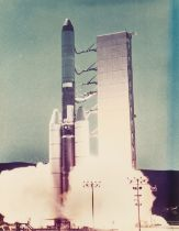 Rockets.- , A good group of Titan and other rockets on the launch pad and at lift-off, 1961, …