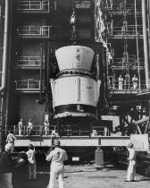 Assembly of the Titan III-C rocket, c.1965, together 3 vintage gelatin silver prints (3).